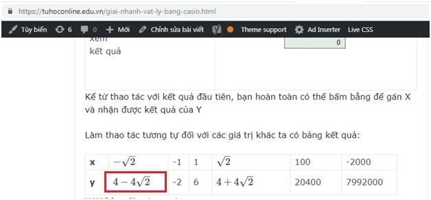 Cách Gõ Công thức toán học trong website WordPress thành công 100% 01