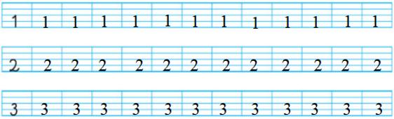 GIẢI: Các Số 1,2,3 SGK Trang 12 Toán Lớp 1